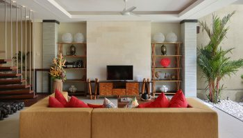 Cozy Sofa at Living Area The Kumpi Villas