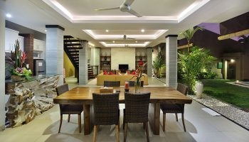 Dining and LIving Area of 2 Bedroom Villa